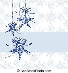 Sparkling Christmas greeting card