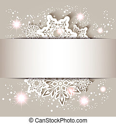 Sparkling Christmas Star Snowflake Greeting Card