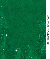 Sparkling Christmas Trees - Textured Christmas trees with...