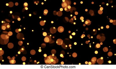 Sparkling defocused particles looped motion background