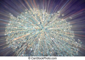 Sparkling Diamonds - blur of crystal beads that look like...