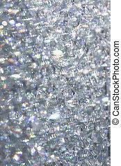 Sparkling diamonds.