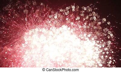 sparkling fireworks seamless loop