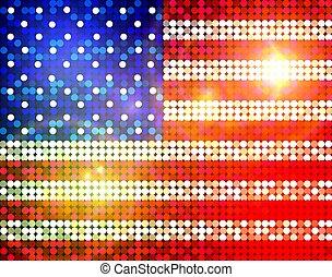 sparkling flag of america