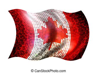 Sparkling Flag of Canada