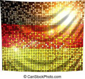 sparkling flag of germany