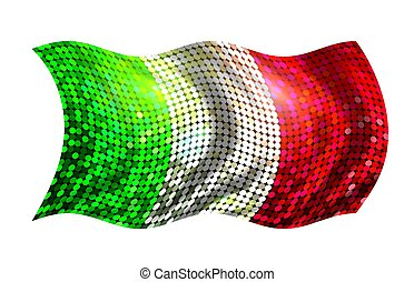 sparkling flag of italy