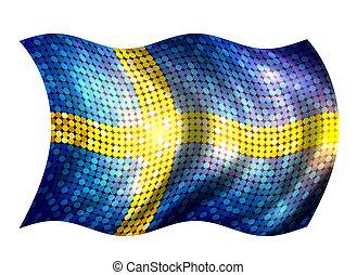 Sparkling Flag of Sweden