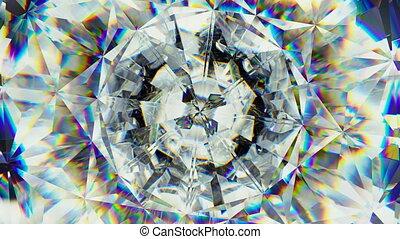 sparkling gemstone macro rotating seamless loop....