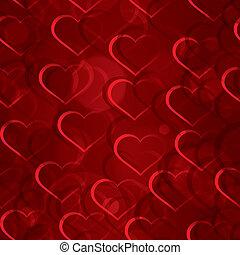 Sparkling hearts seamless vector
