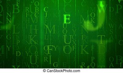 Sparkling holographic letter illustration - 3d illustration...