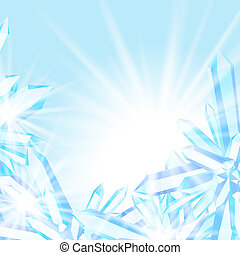 Sparkling ice crystals - Vector card with winter Christmas...