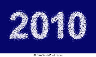 """Sparkling inscription """"2010"""""""