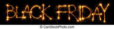 Sparkling inscription of Black Friday on a black background