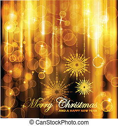 Sparkling lights Christmas Card