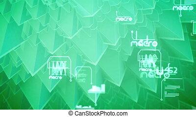 """Sparkling nano pyramids with diagrams"" - ""Volumetric 3d ..."