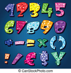 Sparkling numbers and signs