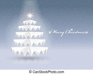 sparkling paper Christmas tree