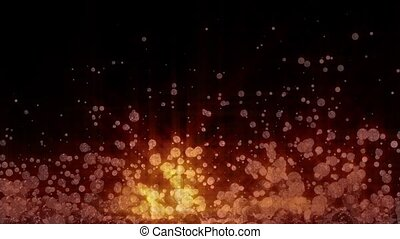 Sparkling Particles Background - Orange