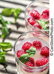 Sparkling Raspberry - Limoncello Cocktail