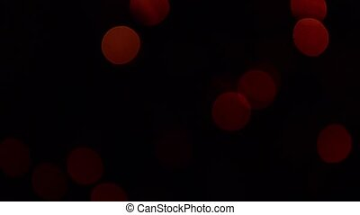 Sparkling red light dots Christmas decorative. Red...