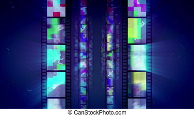 """Sparkling Retro Film Tape Advancement "" - ""A striking 3d..."
