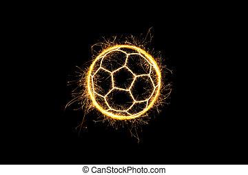 Sparkling soccer ball.