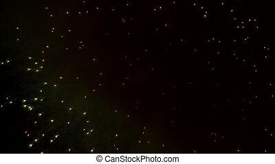 Sparkling Sparks of Fireworks