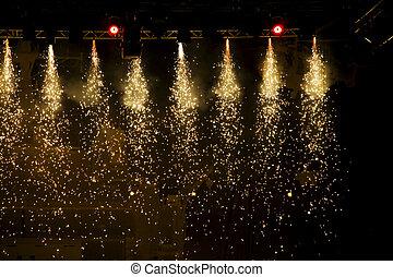 Sparkling theatre lights