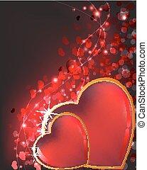 Sparkling Valentines Day hearts