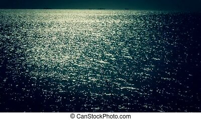 Sparkling water surface and fishing