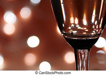 Sparkling wine and celebration - Celebration and a glass of...