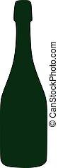 Sparkling wine bottle green icon