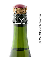 sparkling wine close up - object on white - sparkling wine...