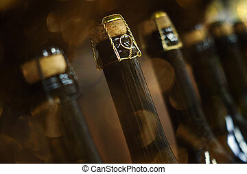 Sparkling wine for the holiday new year christmas