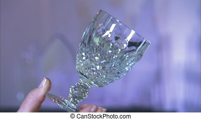 Sparkling wine glass - A close up shot of an elegant luxury...