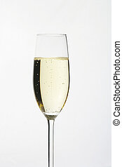 Sparkling Wine Glass - Sektglas - one glass of sparkling...