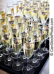 Sparkling wine - Wedding reception with sparkling wine or...