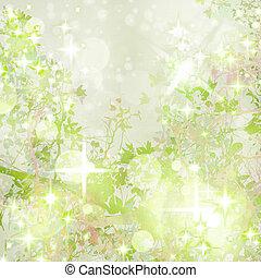 Sparkly Garden Art Textured Background
