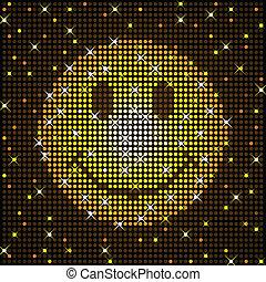 Sparkly smiley face