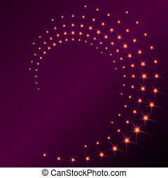 Sparkly spiral - Background with a purplish spiral of...