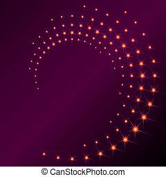 sparkly, spiral