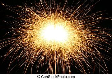 sparks background - celebration sparks  on black background