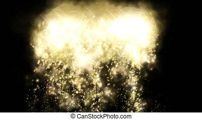 Sparks dust gold backdrop Christmas light effect 4k