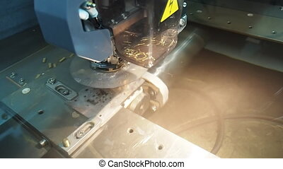 Sparks erosion edm machine working