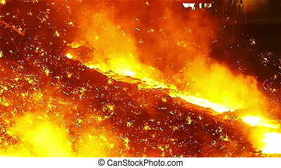 Sparks fire in manufacturing