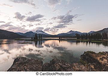 Sparks Lake Sundown
