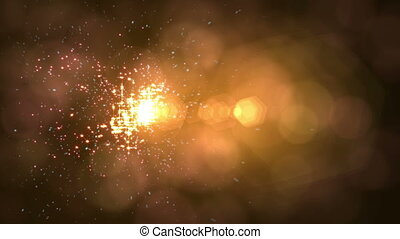 sparks particle ray light abstract motion 4k