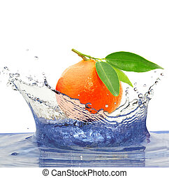 mandarin - Sparks of blue water and mandarin