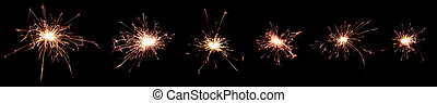sparks on black background for incrustation